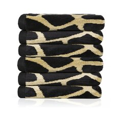 Giraffe Animal Jacquard Yarn Dyed Velour Bath Towel (Set of 6)