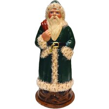 Schaller Paper Mache Candy Container Santa Green Coat