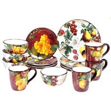 Botanical Fruit 16 Piece Dinnerware Set, Service for 4