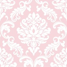 Ariel 5.5m L x 52cm W Damask Roll Wallpaper