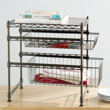 wayfair basics stackable kitchen cabinet organizer - Cabinet Organizers Kitchen