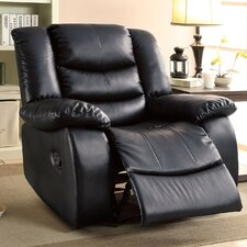 Tufted Leatherette Recliner