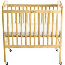 Adjustable Fixed-Side Convertible  Crib with Mattress by Angeles