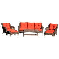Herrin 6 Piece Wicker Seating Group with Cushions by Darby Home Co®