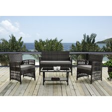 Kampyli 4 Piece Seating Group with Cushion by Bay Isle Home