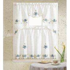 Aster 3 Piece Kitchen Curtain Set