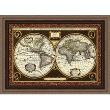 trends decorative world map framed graphic art