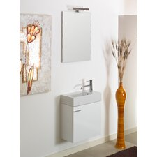 Lola 21 Single Wall Mounted Bathroom Vanity Set with Mirror by Iotti by Nameeks