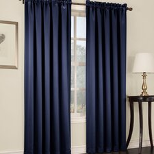 Groton Solid Semi-Sheer Rod Pocket Single Curtain Panel
