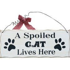 """A Spoiled Cat…"" Wall Décor"