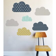 Geo Clouds Wall Decal