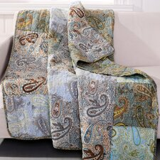 Paisley Dream Cotton Quilted Throw