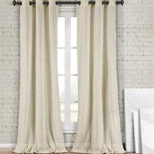 Kaylynn Solid Semi-Sheer Grommet Curtain Panels (Set of 2)