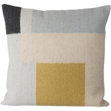 Ferm Living Kelim Square Wool Throw Pillow
