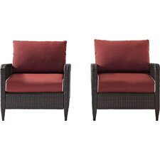 Boller Dining Arm Chair with Cushion (Set of 2)
