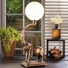 """Trumpeting Elephant 24.5"""" Table Lamp"""