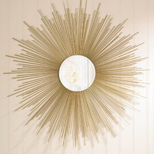 Golden Rays Wall Mirror