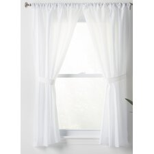Wayfair Basics Solid Sheer Rod Pocket Bathroom Curtain Panels (Set of 2)