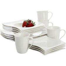 White Basics Motion 16 Piece Dinnerware Set, Service for 4