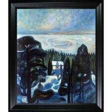 White Night 1901 by Edvard Munch Framed Oil Reproduction