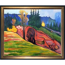 From Thuringewald 1905 by Edvard Munch Framed Oil Reproduction