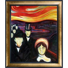 Anxiety1894 by Edvard Munch Framed Oil Reproduction