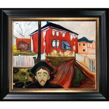 Red Virginia Creeper 1898-1900 by Edvard Munch Framed Oil Reproduction