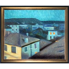 Night in Nice 1891 by Edvard Munch Framed Oil Reproduction