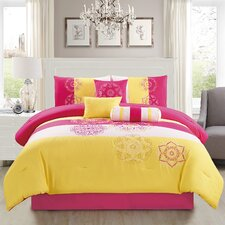 Carlotta Embroidered 7 Piece Comforter Set