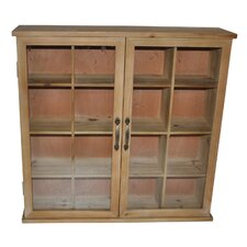 Wood Storage Cabinet with Glass Doors by Cheungs