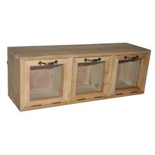 Wood Hanging Storage Cabinet with Glass Doors by Cheungs