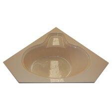 60 x 60 Corner Oval Air Tub by American Acrylic
