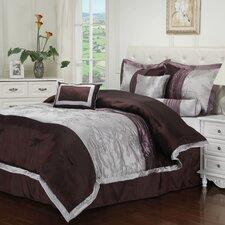 Kashmir 7 Piece Embroidered Reversible Comforter Set