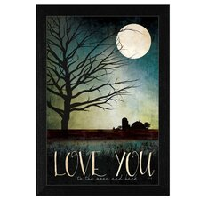 Love You Farm' by Marla Rae Framed Graphic Art by Trendy Decor 4U