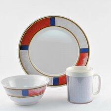 Decorated Life Preserver Melamine 12 Piece Dinnerware Set, Service for 4