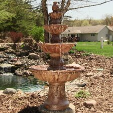 Fiberglass Resin 4 Tier Fountain