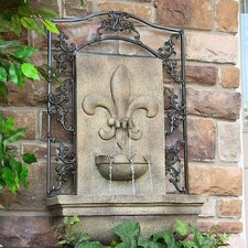 Polystone French Lily Outdoor Wall Fountain