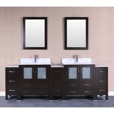 96 Double Vanity Set with Mirror by Bosconi