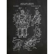 Toys and Collectibles 'Voltron' Silk Screen Print Graphic Art in Chalkboard/White Ink