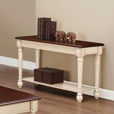 Classic Two Tone Sofa Table by Three Posts