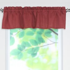 "Circa Solid Rod Pocket Tailored 52"" Curtain Valance"