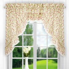 "Clarice Ruffled Swag 58"" Curtain Valance (Set of 2)"
