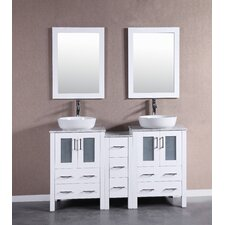 60 Double Vanity Set with Mirror by Bosconi