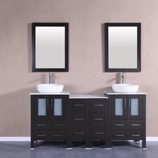 72 Double Vanity Set with Mirror by Bosconi