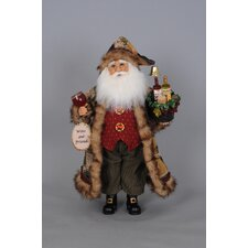 Christmas Basket of Cheer Santa Figurine