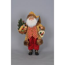 Christmas Lighted Tuscan Cuisine Santa Figurine