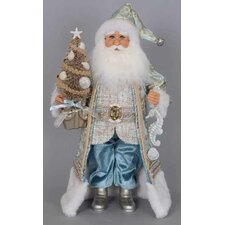 Christmas Coastal Santa Figurine