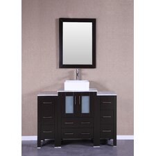 48 Single Vanity Set with Mirror by Bosconi