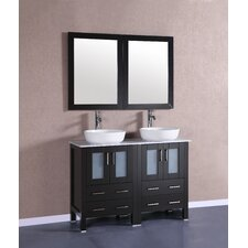 48 Double Vanity Set with Mirror by Bosconi