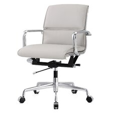 leather desk chair - White Armless Office Chair